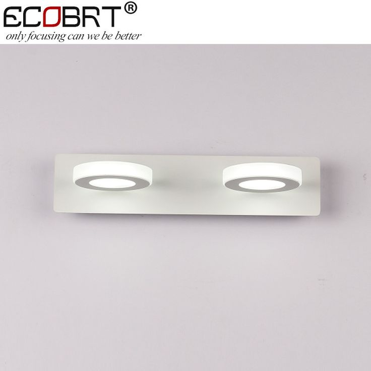 Ecobrt 6W Led Wall Lamps Indoor Bathroom 31Cm Long Modern Style White Led Mirror Lights 2-Lights Surface Mounting 220V Ac