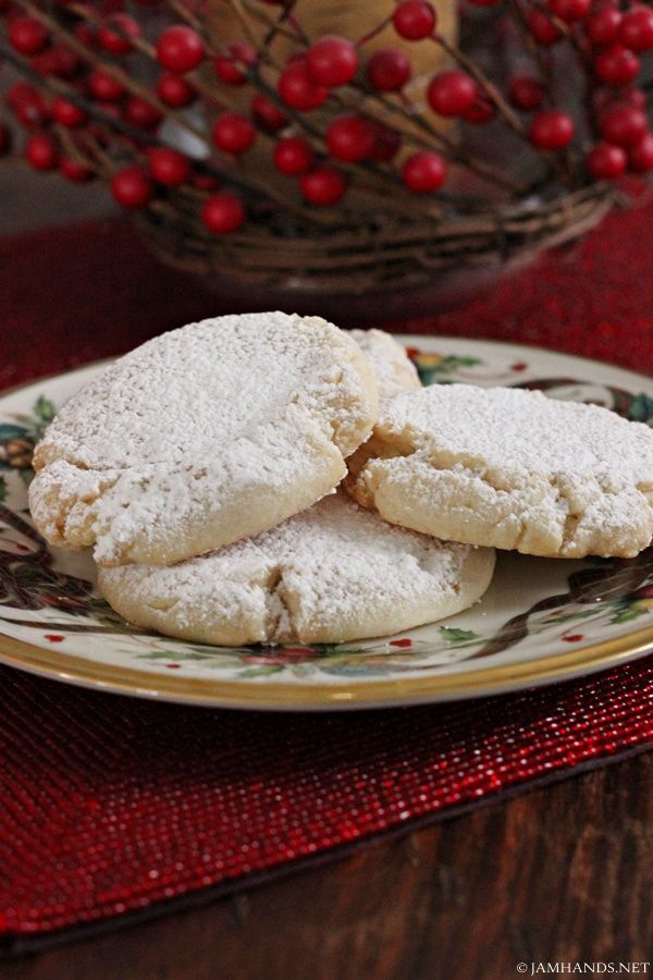 Jam Hands: Soft Almond Pillow Cookies: they are stuffed full of an almond paste mixture which tastes divine.