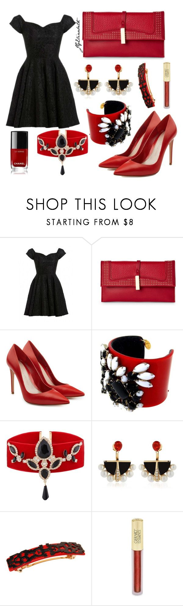 """Untitled #213"" by jgelizabeth ❤ liked on Polyvore featuring D.anna, Danielle Nicole, Alexander McQueen, Lalique, L. Erickson, Forever 21 and Chanel"