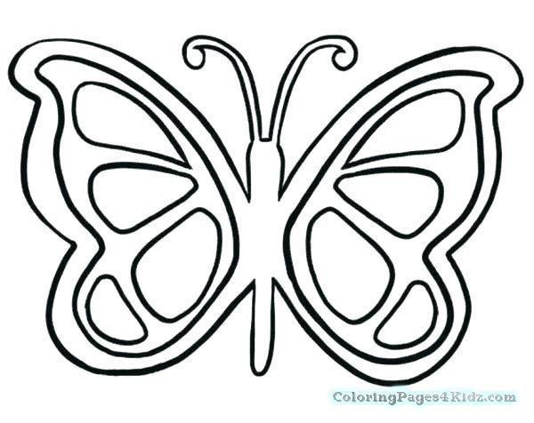 Butterfly Wings Coloring Pages Seasonal Colouring Pages Butterflies Menggambar Kupu Kupu Halaman Mewarnai Kupu Kupu