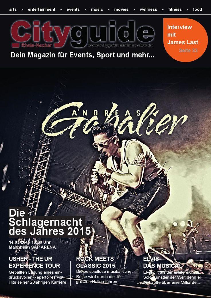 Cityguide Rhein Neckar März 2015  Cityguide Rhein Neckar das monatlich & kostenlos erscheinende Magazin für Events und Neuigkeiten aus der Metropolregion Rhein-Neckar.