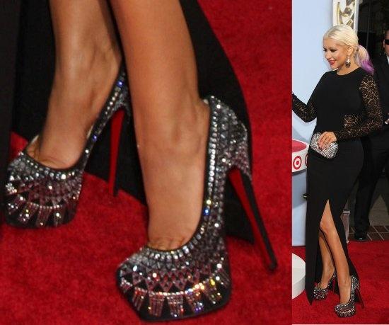 christian louboutin shoes burlesque christina aguilera