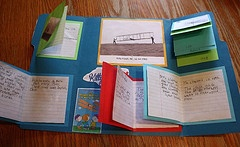 Lapbooking ~ flaps and minibooks in a folder to display (unit) study information