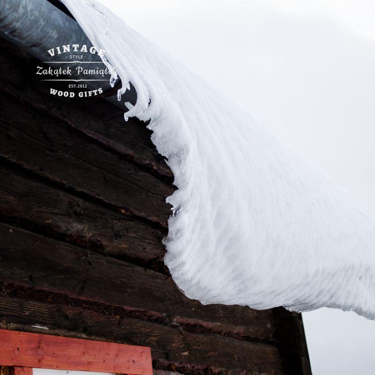 Zima, śnieg, Podkarpacie, Domaradz