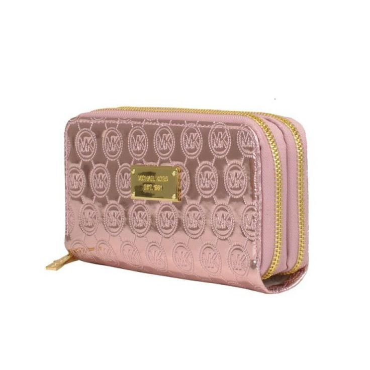 MICHAEL Michael Kors Jet Set Bright pink Continental Wallet