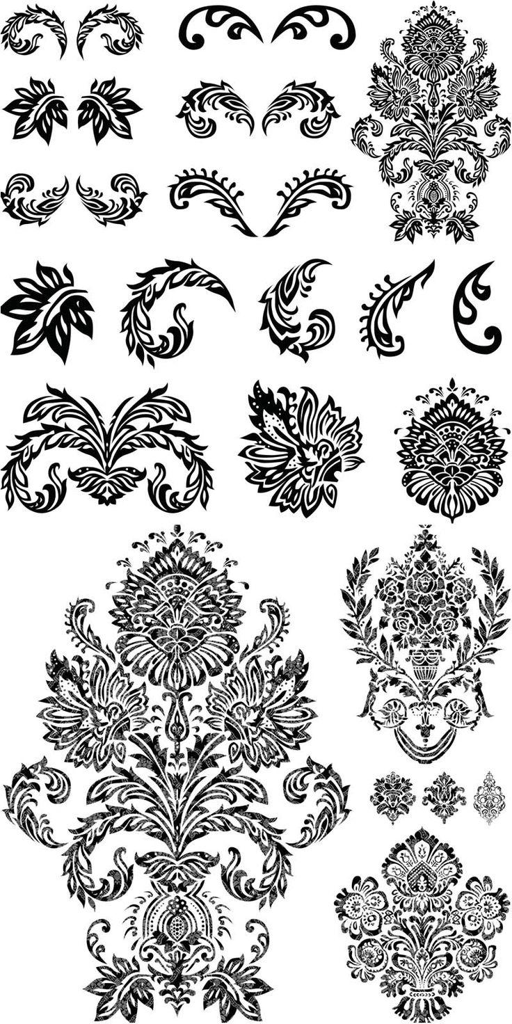 Ornate flourish embellishments vector