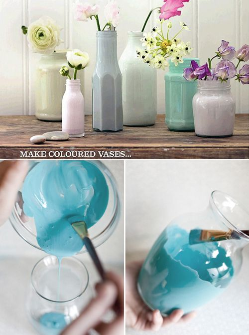 Make your own coloured vases, pretty <3