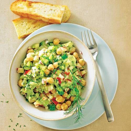 Avocado Kichererbsen Salat