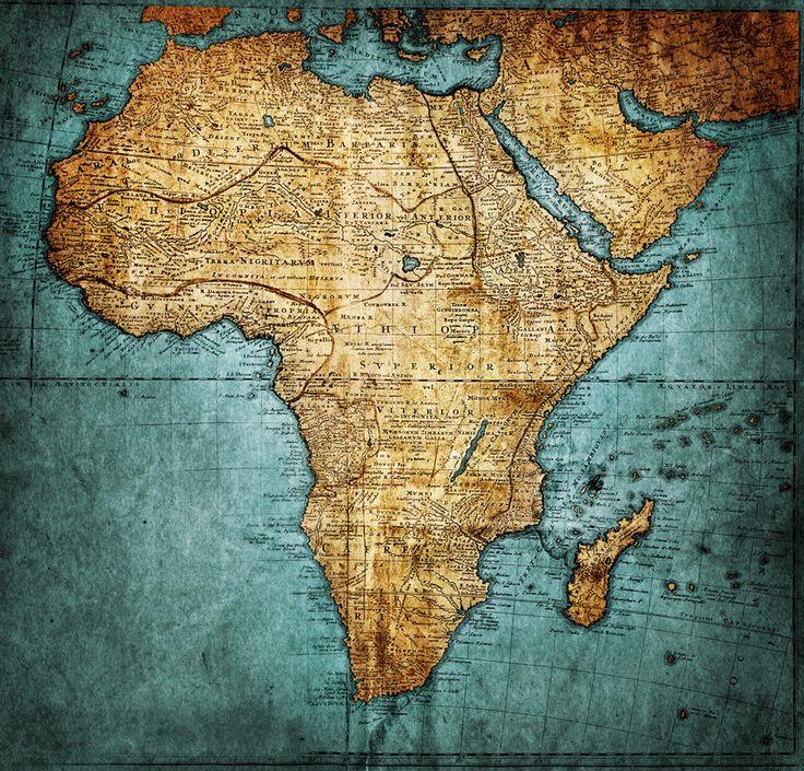 Russia Northern Eurasia Map Quiz%0A vintage map Africa   mapmaker HAAS Johann Matthias   Hasio     publisher   Homannianorum H       Nuremberg Germany   stock photo
