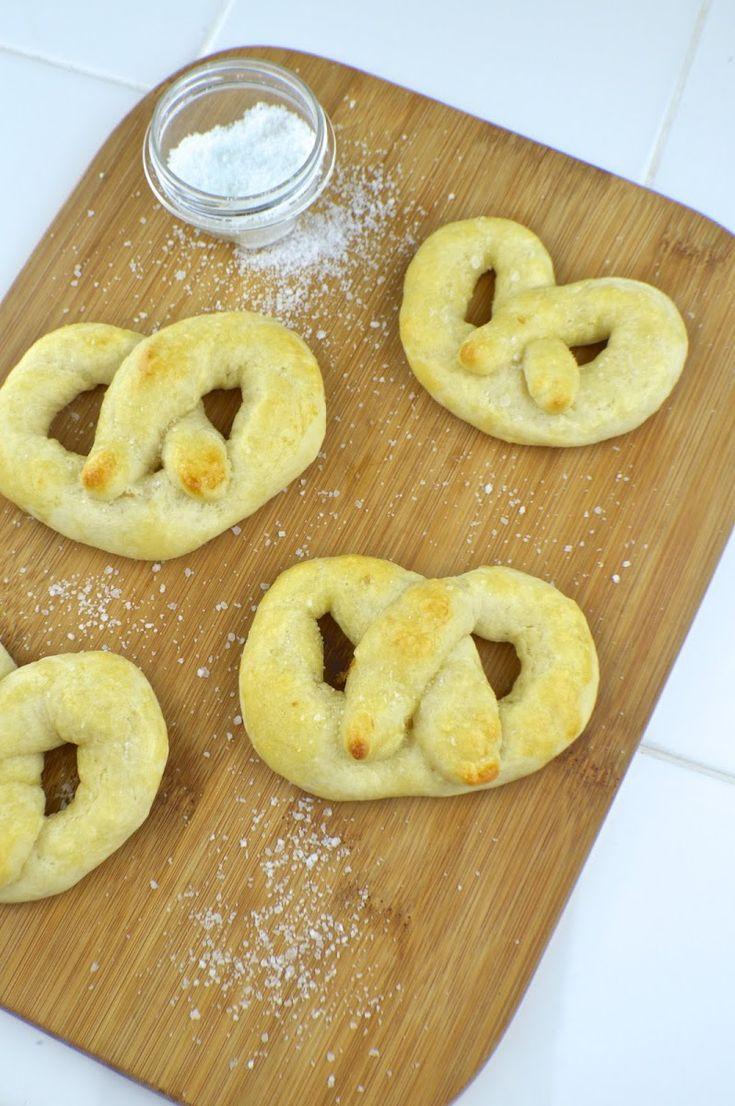 No yeast soft pretzels recipe yummly soft pretzel