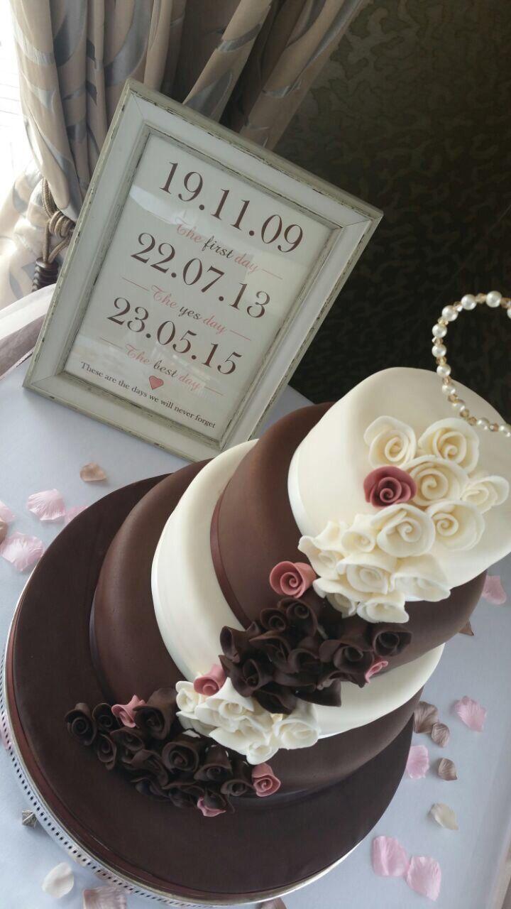 Chocolate Wedding Cake for Beth & Chris