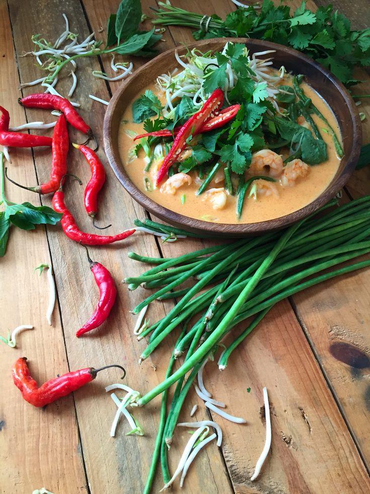 curry rojo de camarones estilo tailandes                                                                                                                                                                                 Más