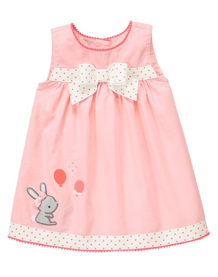 Velour Bunny Corduroy Dress at Gymboree - for Easter maybe...? SO FLIPPIN CUTE! She will be around 3 Months old :3