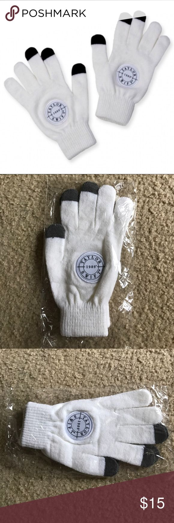 Taylor Swift 1989 Texting Gloves New These are a brand new in package pair of texting gloves with Taylor Swift 1989 patched on the back of both gloves. These are completely sold out in the online store and are hard to find!! Taylor Swift Accessories Gloves & Mittens
