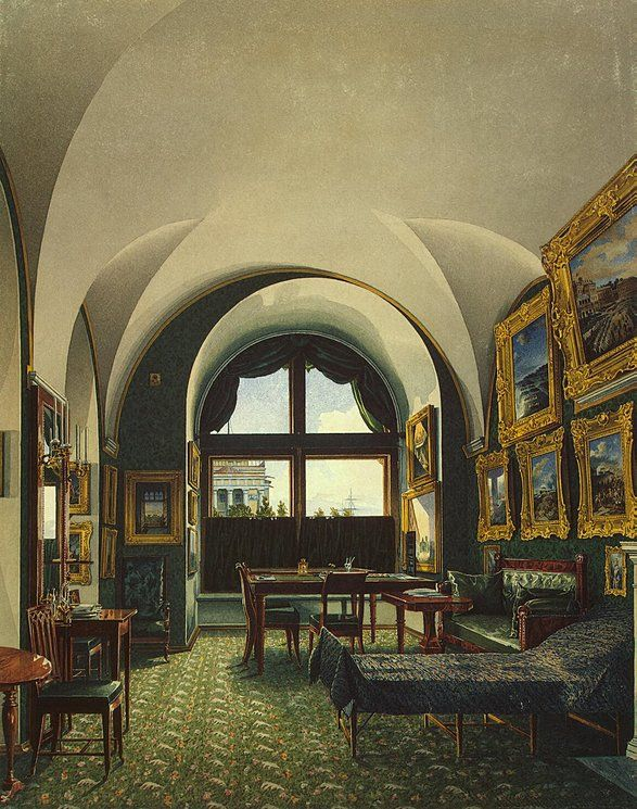 Konstantin Andreyevich Ukhtomsky Interiors of the Winter Palace. The Small Study of Emperor Nicholas I