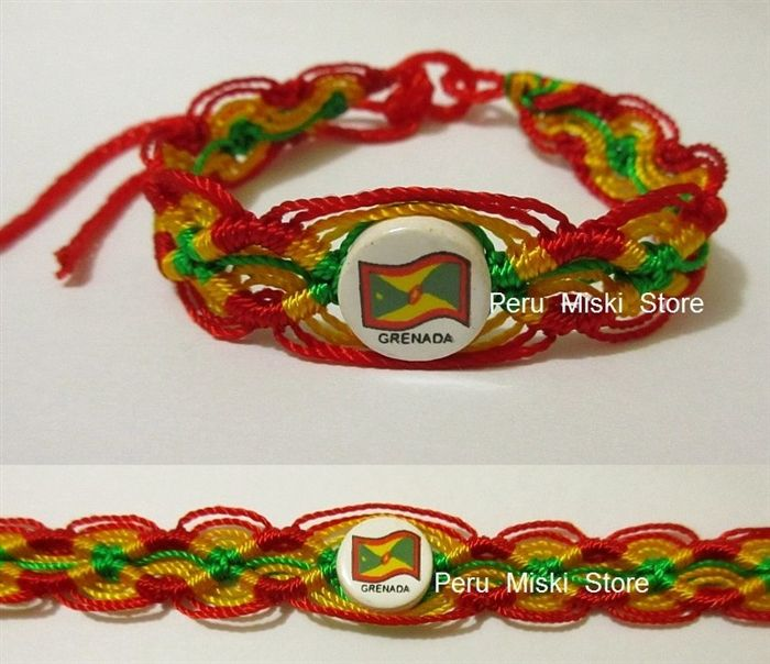 50 Grenada Flag Friendship Bracelets