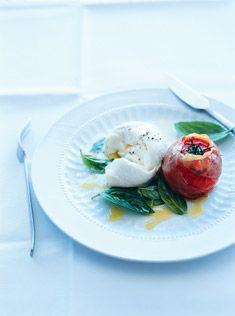 caprese my fave. nice presentation http://www.donnahay.com.au/recipes/mains/salads/caprese-salad
