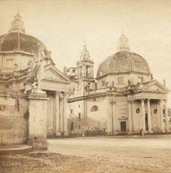 Piazza del Popolo (Henri Plaut, 1859)