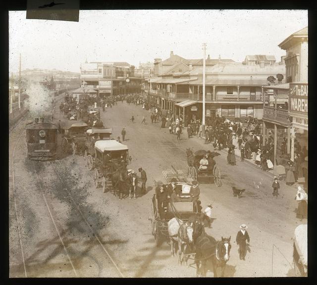 Scott and Hunter Streets., Newcastle, NSW. (Photo undated) possible ca. of 1890's. v@e