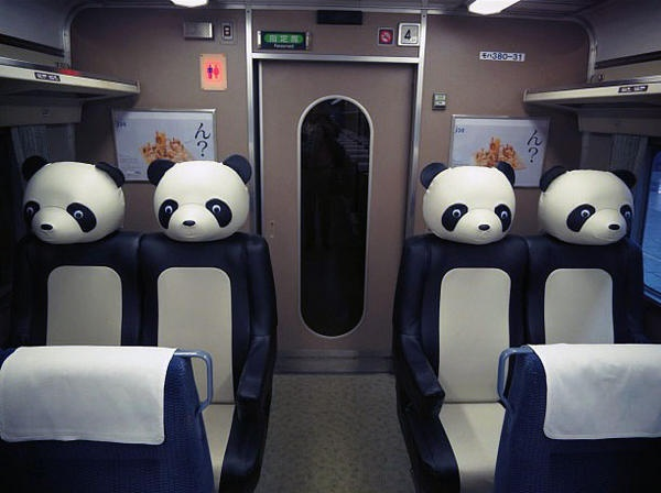 Photo of the day: Panda train, Japan.