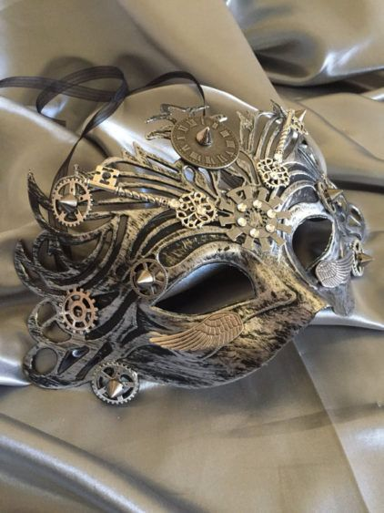 Mask Masquerade Mask Steampunk Halloween Mask Mardi Gras Mask Fantasy Mask Watch Gears Steampunk Costume Michanical Cosplay Unisex by LuckySteamPunk