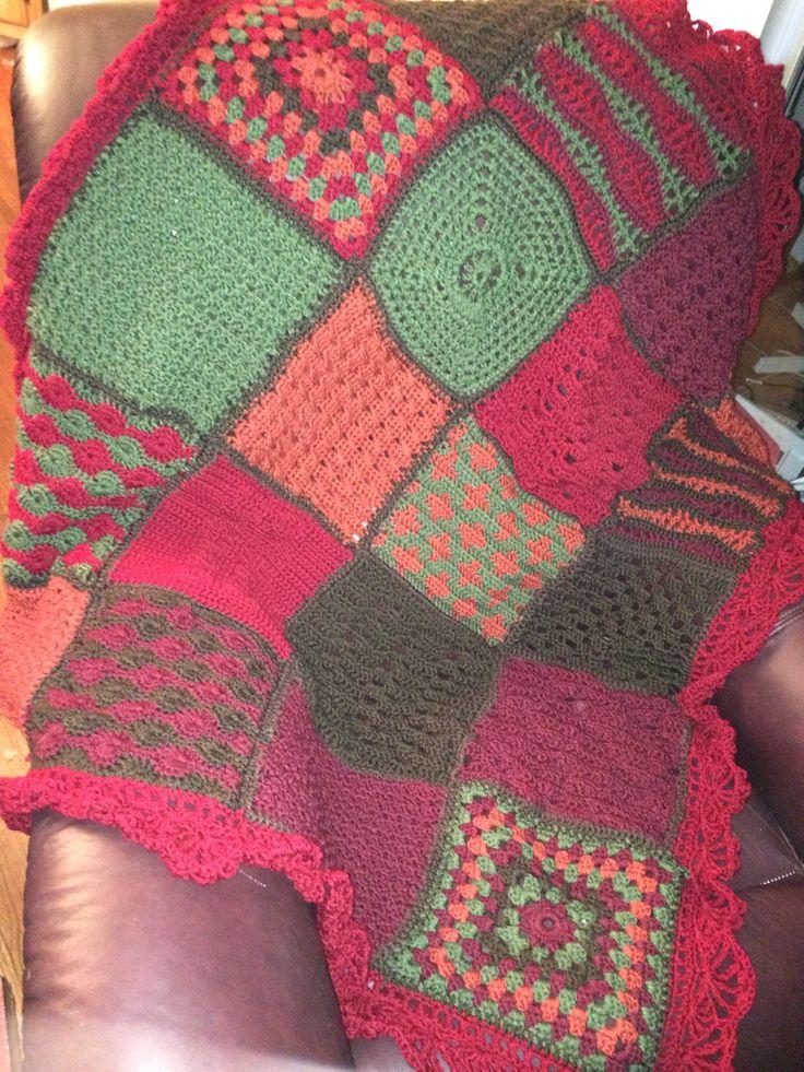 Crochet Ruffle Border Afghan Pattern