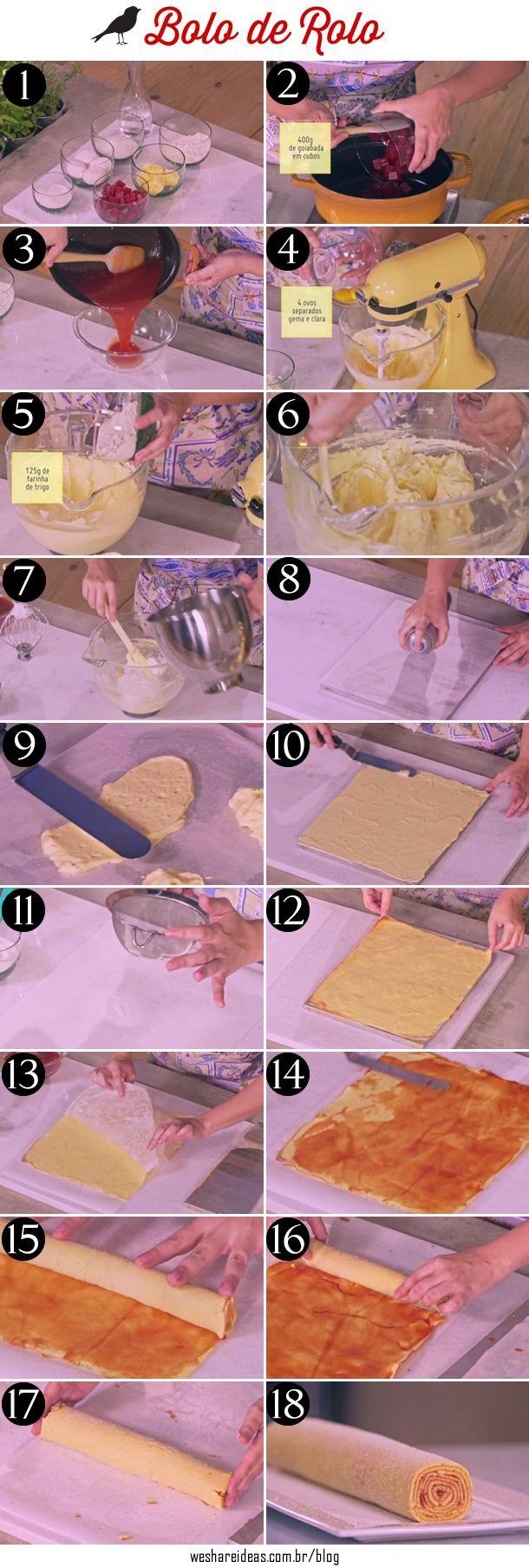 veja como fazer bolo de rolo passo a passo para fazer uma massa bem fina e saborosa.