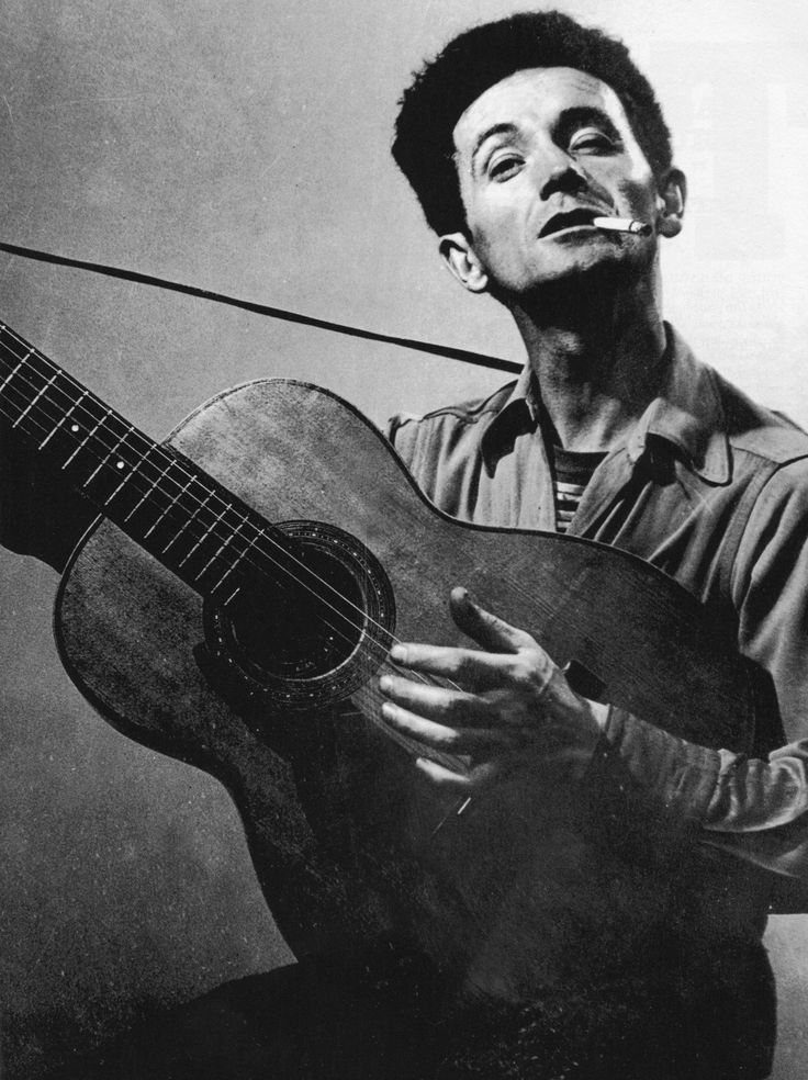Woody Guthrie, 1912 - 1967.55; singer, songwriter. autobiography Bound for Glory 1983.
