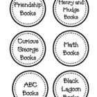 This bundle includes my collection of Book Basket labels for a classroom library. The set includes:  Friendship Henry and Mudge Curious George Math...