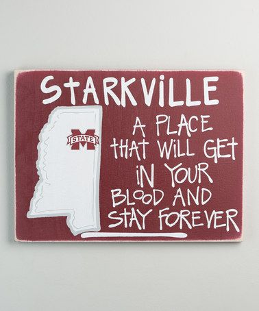 Another great find on #zulily! Mississippi State Bulldogs Map Wall Sign #zulilyfinds