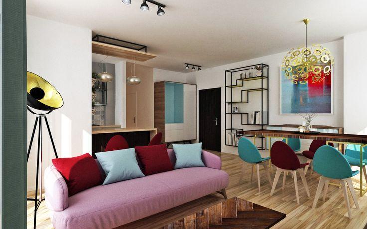 modern style - living room