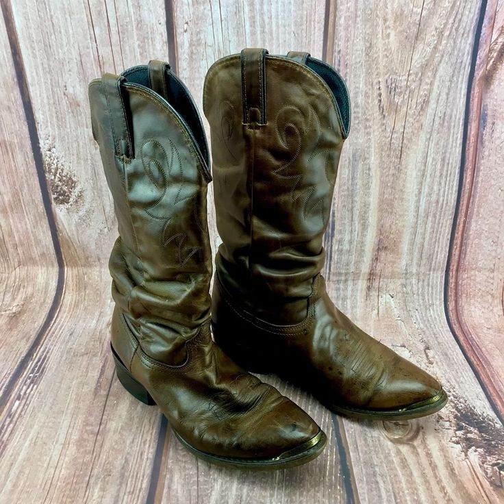 Vintage Durango Cowboy Boots Line Dance Country & Western Dress Up Leather USA