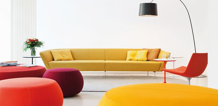 Sofàs de Design Loop por Arper, design Lievore Altherr Molina