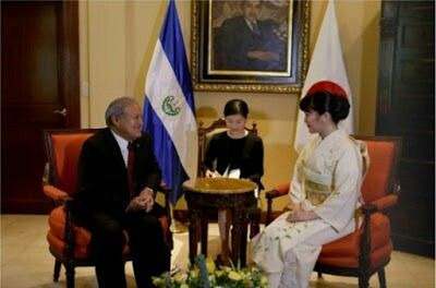 On December 2, 2015, Princess Mako of Akishino flew to the Central America for an official visit to mark the 80th anniversary of the establishment of diplomatic relations with El Salvador and Honduras