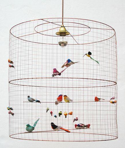 Matthieu Challieres - vogelkooilamp