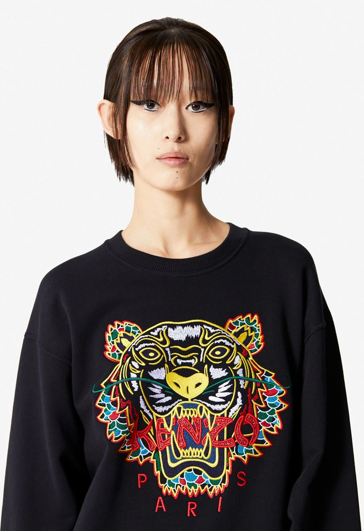 Dragon Tiger Sweatshirt For Women Kenzo Kenzo Com Tiger Sweatshirt Sweatshirts Women Sweatshirts [ 1070 x 735 Pixel ]