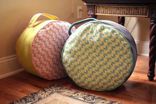Forest Friends Flannel Floor Cushions by Michelle Engel Bencsko | Cloud9 Fabrics, via Flickr