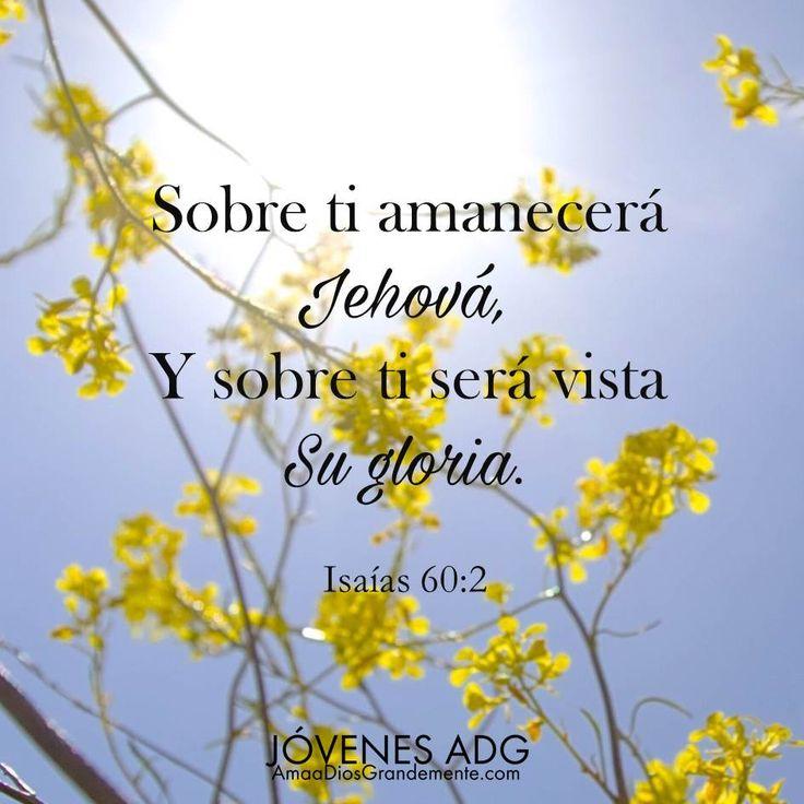 """""""Sobre tí amanecerá Jehová, Y sobre tí será vista su gloria"""" Isaias 60:2…"""