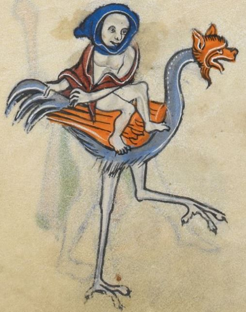 """Detail from """"The Rutland Psalter"""", medieval (c1260), British Library Add MS 62925. f 107v"""
