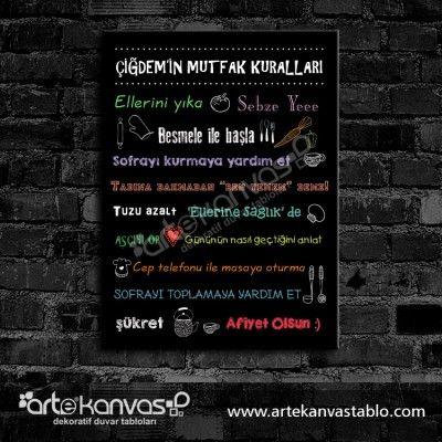 İsimli Mutfak Kuralları Dikdörtgen