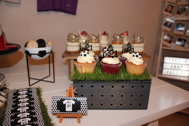 Soccer themed 21st birthday party