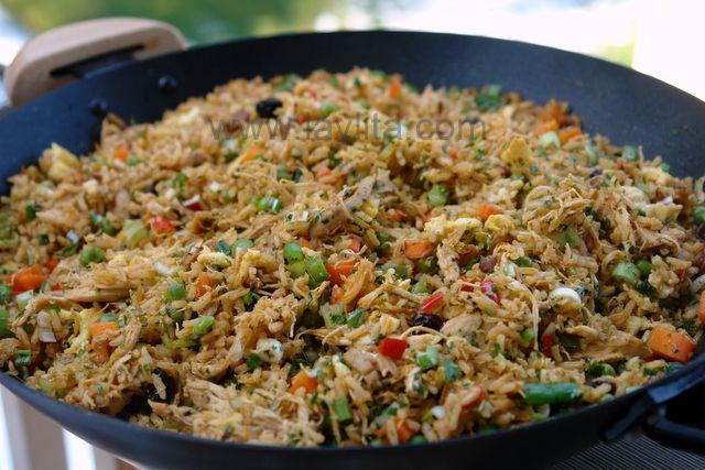 Chaulafan de pollo or Ecuadorian chicken fried rice, I love chaulafan!and my in-laws too... hehe..