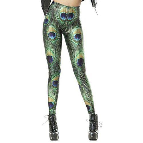 Pfau Kostüm selber machen Leggings ca 14€ | Kostüm-Idee zu Karneval, Halloween & Fasching