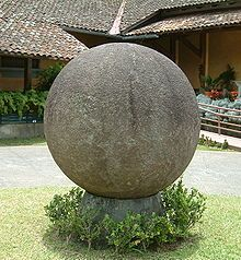 The stone spheres (or stone balls) of Costa Rica are an assortment of over three hundred petrospheres in Costa Rica, located on the Diquis Delta and on Isla del Caño. Locally, they are known as Las Bolas. The spheres are commonly attributed to the extinct Diquis culture and are sometimes referred to as the Diquis Spheres.