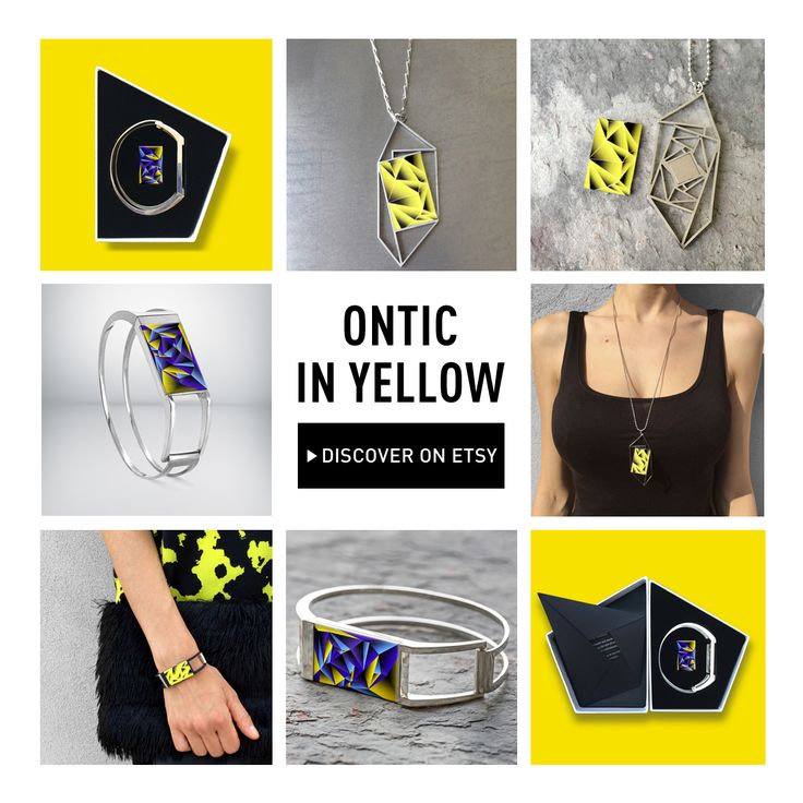 What color are you wearing today? Ontic is in yellow! Discover our Ontic jewelry in yellow on our #Etsy page onti.cc/1SWhqce