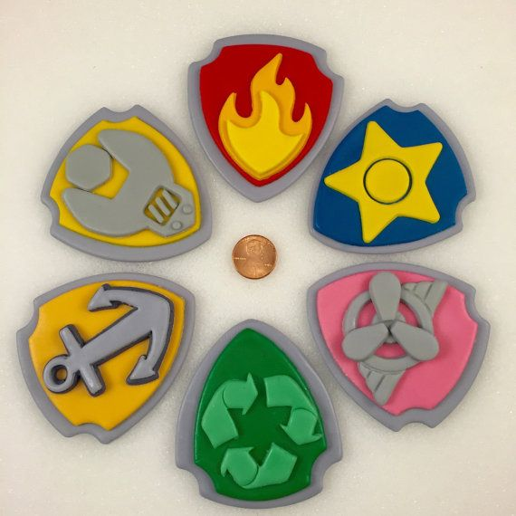 Paw Patrol Inspired Shields Paw Patrol by KedulceSugarDesigns