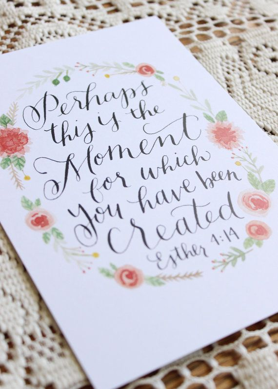 5x7 Fine Art Watercolor & Calligraphy Print by FloralDesignbyErin