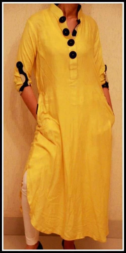 lucknowi kurta for women with lace border - Google Search