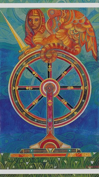 Wheel Of Fortune - Crystal Tarot