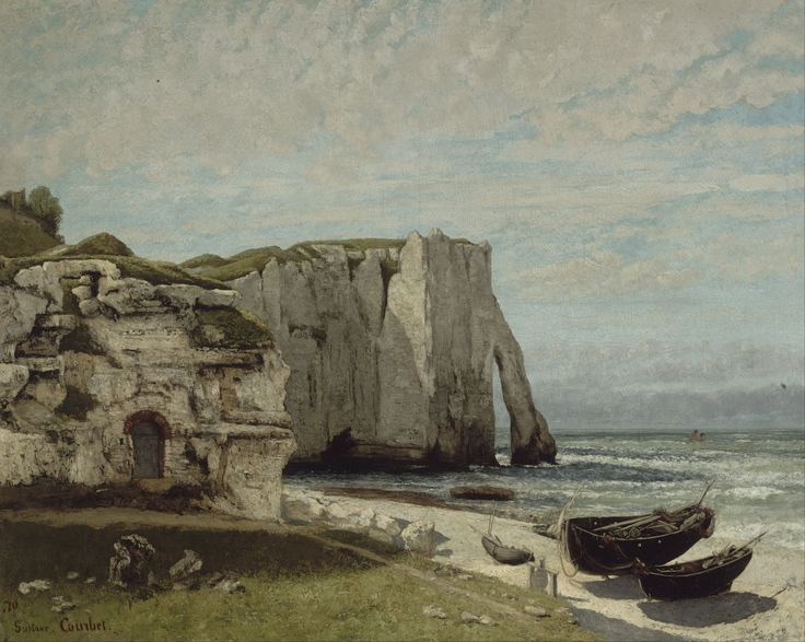The Etretat Cliffs after the Storm (1870)